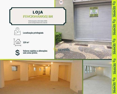 Imagem 1 de 14 de Loja Para Alugar, 229 M² - Funcionários - Belo Horizonte/mg - Lo0071