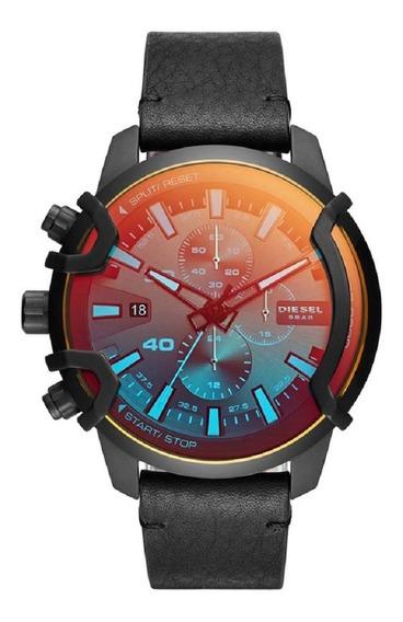 Relógio Diesel Masculino Dz4519/1pn Furtacor Preto Couro