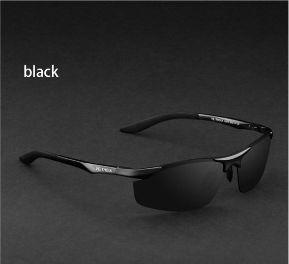 Óculos Polarizado Preto Uv-400 Veithdia Mod6529 Pta Entrega