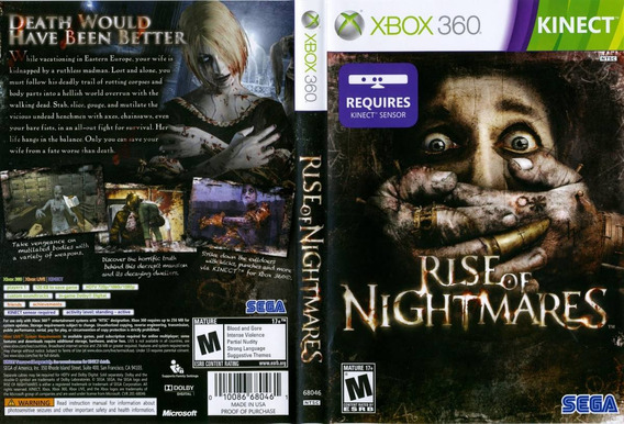 Rise Of Nightmares Xbox 360 Usado