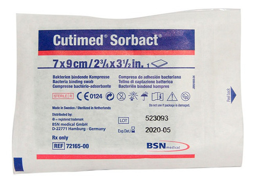 Aposito Cutimed Sorbact Compresa 7cm X9c