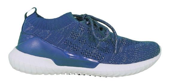 Zapatillas Elastizadas Azul Jaguar 9041 Deportivas Lujandro