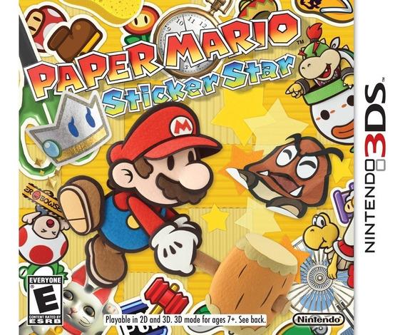 Jogo Paper Mario Sticker Star - Nitendo 3ds
