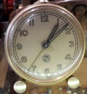 Antiguo Reloj Despertador Smi France Reloj Funciona No Soner