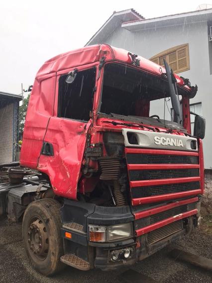 Sucata Scania R 124 400 2005 Motor Caixa Diferencial Cabine