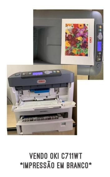 Impressora Okidata C711wt Toner Branco E Coloridos
