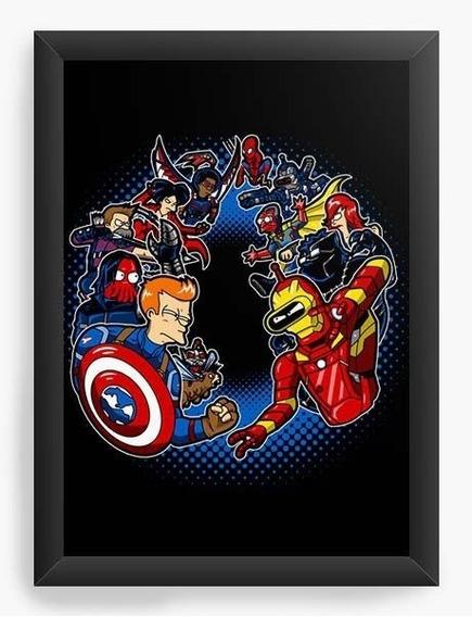 Quadro Decorativo Geekz Capitão America - Guerra Civil