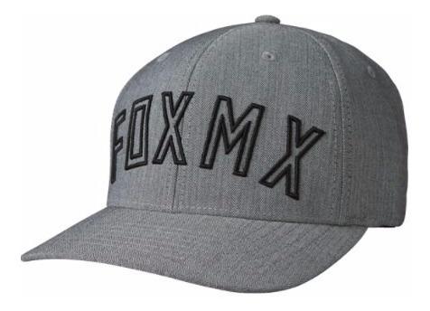 Gorra Gris Direct Flexfit Visera Fox Original Juri Atv