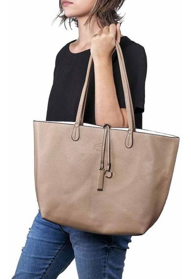 Bolsa Feminina Shopper Bege Oumai + Chaveiro