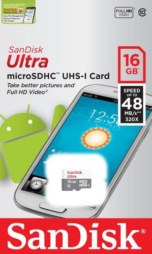 Imagem 1 de 3 de Kit 3 Cartão Memoria Micro Sd 16gb Classe10 Ultra 100% Origi