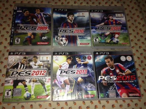 6 Jogos Pes Pro Evolution Soccer Ps3 Konami Mídia Física 198
