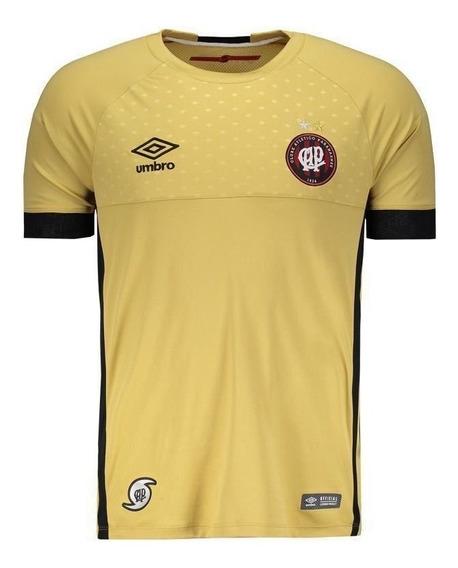 Camisa Umbro Atlético Paranaense Goleiro 2018 Dourada