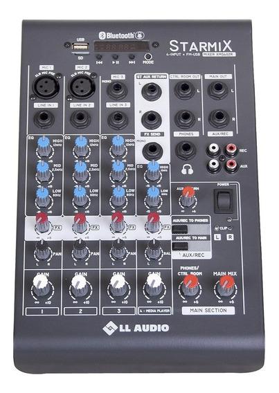 Mesa De Som Com 4 Canais Stereo Starmix Xms402r Ll Áudio