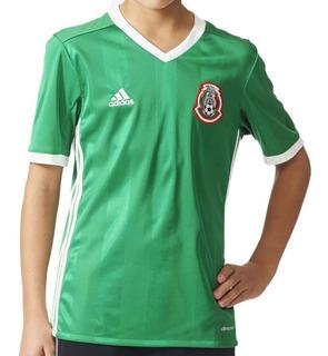 Jersey Seleccion De Mexico Local 16 Niño adidas Full Ac2728