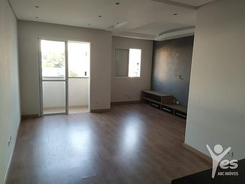Imagem 1 de 10 de Ref.: 2529 - Apartamento, 02 Quartos Sendo 01 Suíte, 01 Vaga,  Campestre, Santo André - 2529