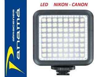 Luces Godox Led 64 Portátil Regulable Para Dslr Canon Nikon
