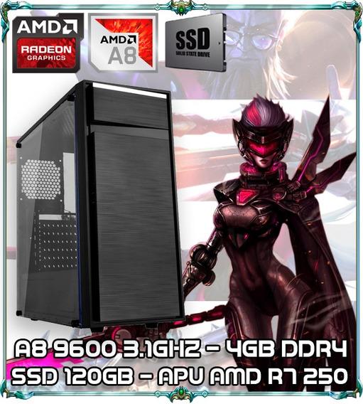 Cpu Pc Gamer A8 9600 Quad Core 3.1gz 4gb Ddr4 Ssd 120 Bb015