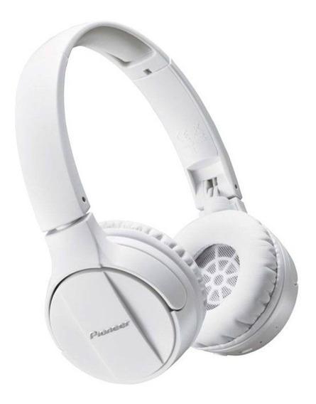 Headphone Pioneer Fone De Ouvido Bluetooth Sem Fio Pc Branco