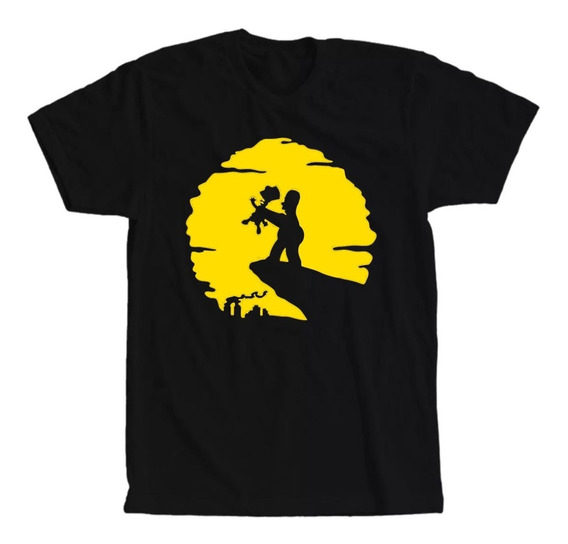 Camiseta Os Simpsons Rei Leão Masculina E Feminina