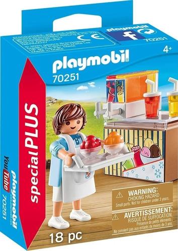Imagen 1 de 7 de Playmobil Heladero Con Barra De Jugos Special Plus 70251 Edu