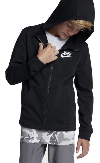 Jaqueta Nike Moletom Nsw Hoodie Capuz Fz Jsy Infantil Aa6628