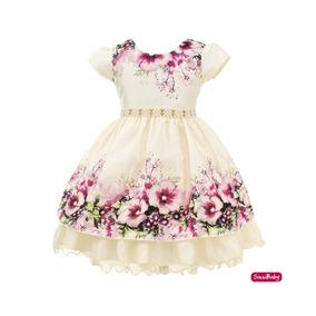 Vestido Festa Infantil Jardim Encantado Da Princesa Luxo