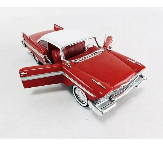 Miniatura Carro Filme Plymouth Fury 58 Christine Escala 1/24