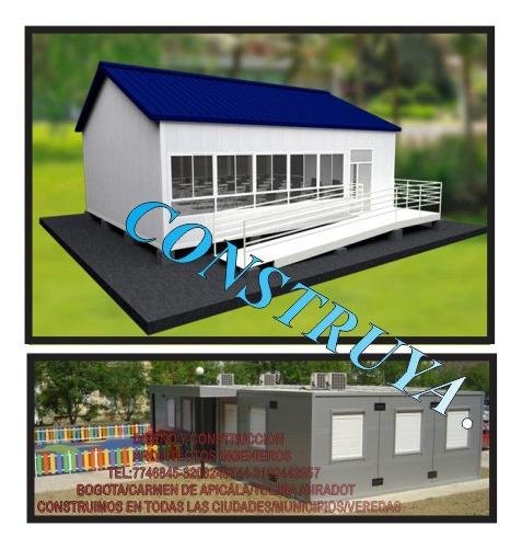Construya Aulas / Oficinas/ Locales Prefabricadas Modernas