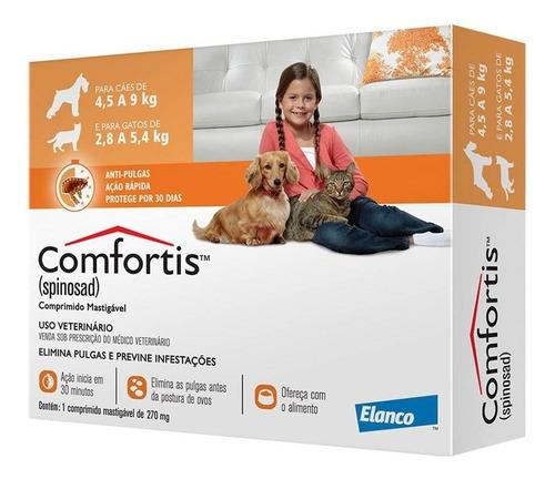 Antipulgas Comfortis Cães - 4,5 A 9kg E Gatos - 2,8 A 5,4kg