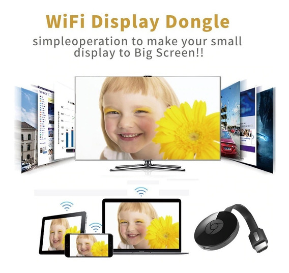 Chromecast Anycast Mirascreem Hdmi Wifi Dongle Pronta Entreg