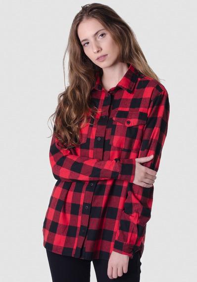 Camisa Xadrez Vermelha E Preta