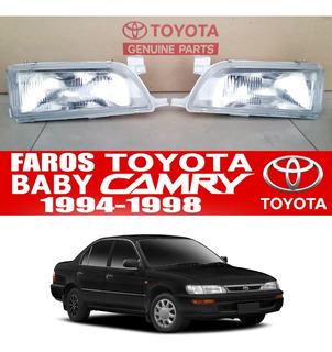 Faro Toyota Corolla Baby Camry 94-98 Vidrio