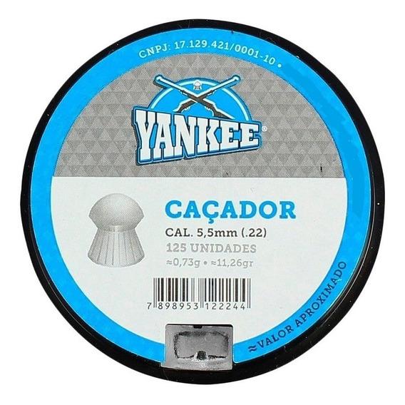 Chumbinho Yankee Caçador 5.5mm 125un.