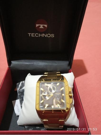 Relógio Masculino Dourado Technos