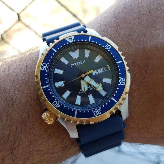 Relógio Citizen Fugu Ny 0096-12l Completo Diver Automático