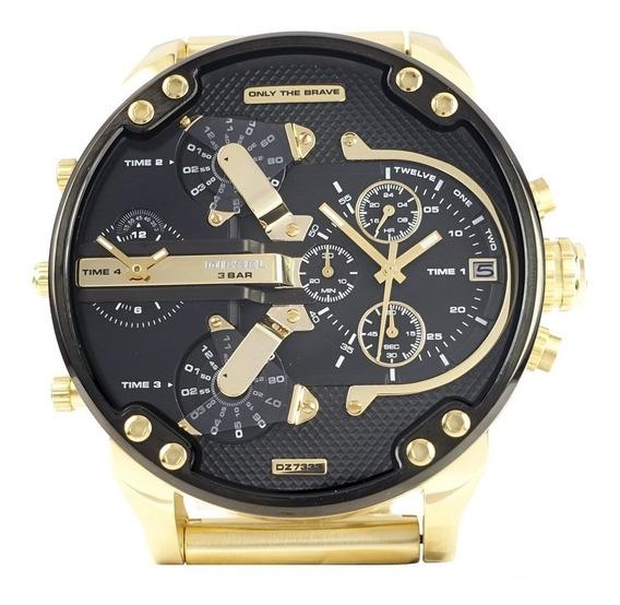 Relógio Diesel Mr. Daddy M.dz 7333 / Gold & Black / Original