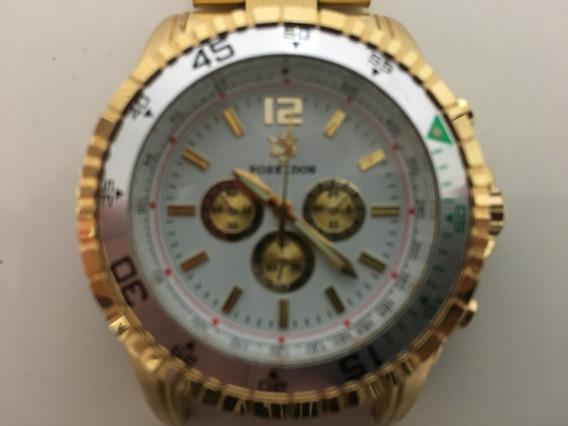 Relógio Poseidon, Alarme Cronógrafo, Dourado, Stain Less Ste