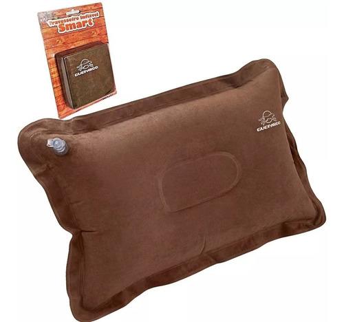 Imagem 1 de 3 de Travesseiro Inflavel Smart  Antiderrapante Marrom - Guepardo