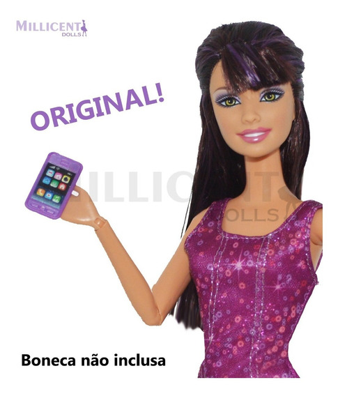 Celular iPhone Para Bonecas Barbie Susi Pullip Disney