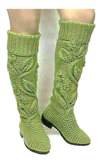 Zapato Artesanal En Crochet Dami Calzado Alto Confort