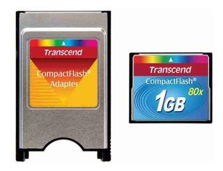 Cf Industrial Transcend 1gb 80x + Adaptador Pcmcia Para Cf
