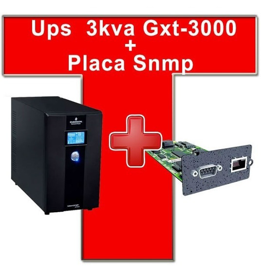 Ups Emerson Liebert On Line 3kva Gxt-3000 + Placa Snmp