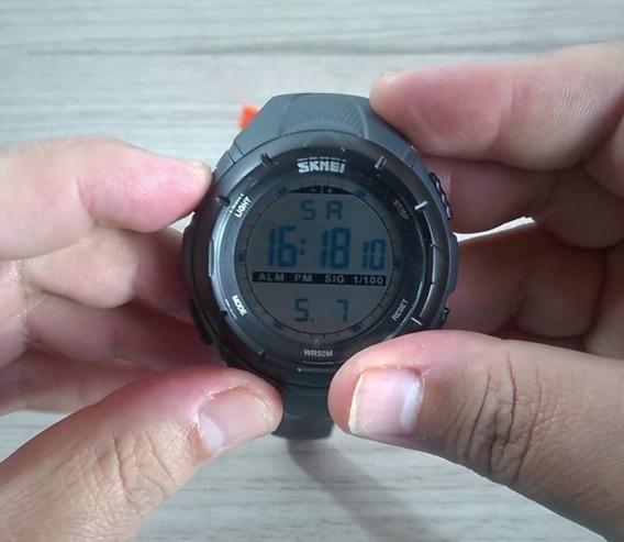 Relógio Skmei 1025 Original - Grafite - Sport Series Tático Militar Outdoor - Super Promoção