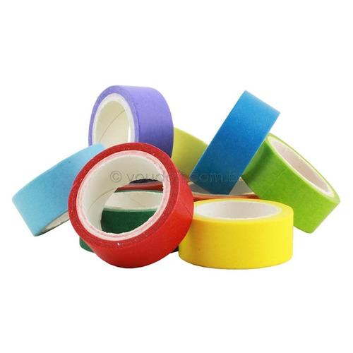 Fitas Adesivas De Papel Coloridas 4 3 Metros 10 Rolos Mercado Livre