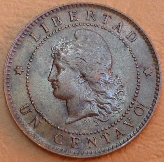 Argentina Un 1 Centavo Patacón 1890 Excelente ++ Casi Sc.