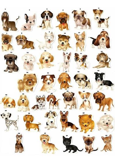 Adesivo Pets Cão Feliz. Autocolante. Raças Caninas Do Mundo