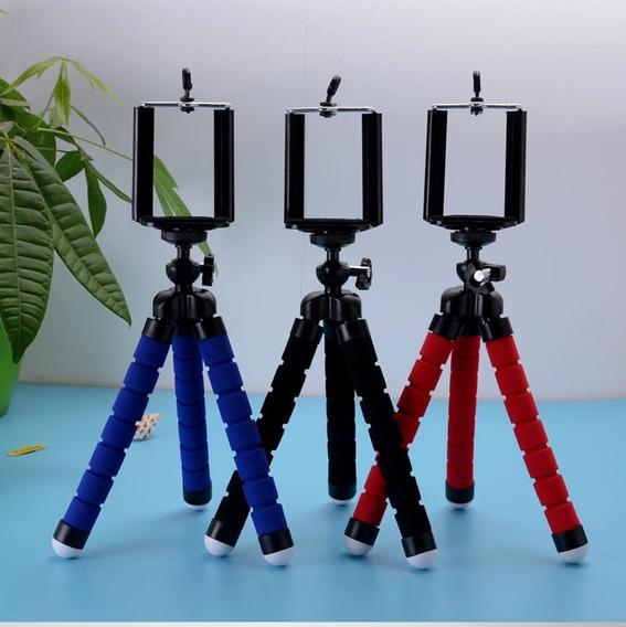 Mini Tripé Com Suporte De Celular E Câmera Go Pro