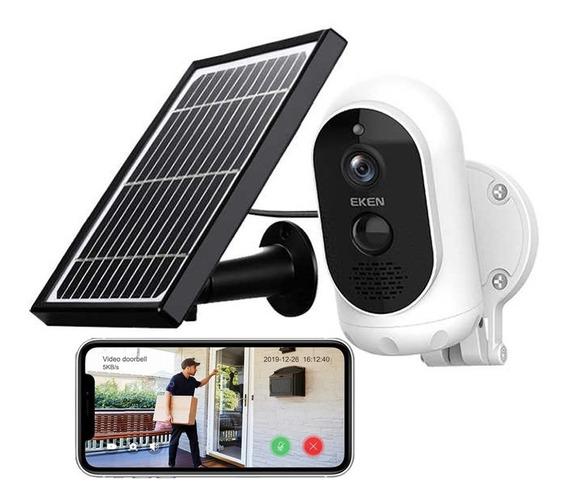 Câmera De Segurança Eken Astro 1080p Wifi Painel Solar Audio