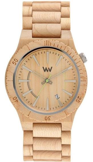 Relógio Madeira Wewood Masculino Assunt Beige Wwas01 C/ Nfe