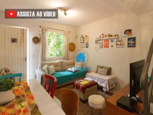 So0186 - Sobrado Com 2 Dormitórios À Venda, 60 M² Por R$ 330.000 - Vila Polopoli - São Paulo/sp - So0186